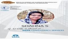 CSE student got placed in TCS