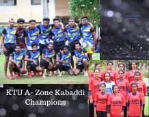 KTU A ZONE  Men's Kabaddi tournament- Champions