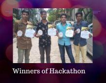 Winners of Hackathon- S1 CSE Students