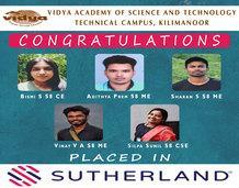 VAST TC students got placed
