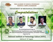 ME Students Present Research Paper @NIT Calicut