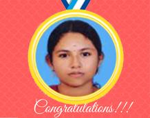 First Position in Kerala University Exam